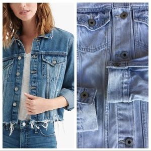 Lucky Brand Frayed Hem Denim Jacket S